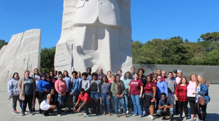 AFA STUDENTS IN DC at the MLK memorial